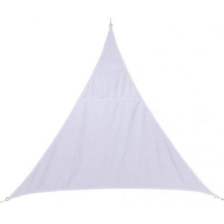 Toile solaire Voile d'ombrage triangulaire 2 x 2 x 2 m en tissu déperlant - Coloris BLANC