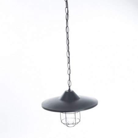 Suspension lustre en métal - Esprit Loft - Coloris NOIR