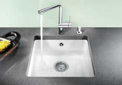 BLANCOSUBLINE 375-U évier encastrable sous plan, céramique PuraPlus®, jasmin, pour des meubles...