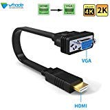 Cavo da HDMI a VGA, Vmade Active HDMI maschio a VGA maschio 1080p convertitore per PC, laptop, computer, desktop, monitor, proiettore, HDTV e dispositivi HDMI-nero