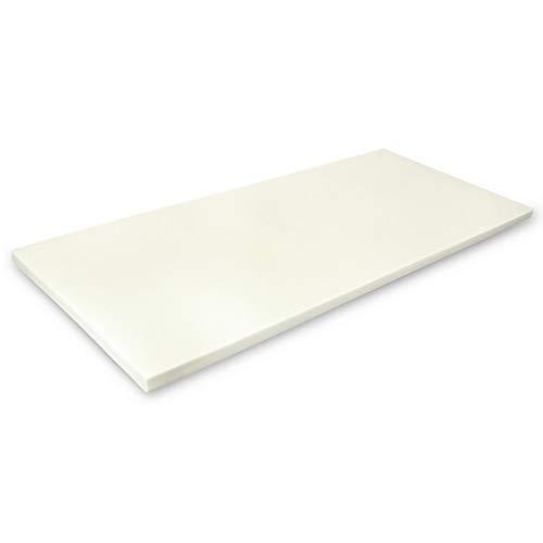 MSS Viscoelastische Matratzenauflage, ohne Bezug, 130 x 200 x 4 cm, Visco-Schaumstoff