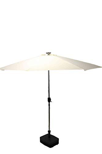 Füllgut Sonnenschirm 300ø mit 32 LED und Ladefunktion für Telefone/Marktschirm/Campingschirm/Alum-Schirm/Hängeschirm (Schirm Für Telefon)