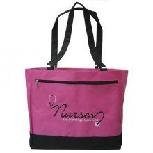 tote-nurses-are-blessings-from-god-pnk-blk-by-swanson-christian-supply
