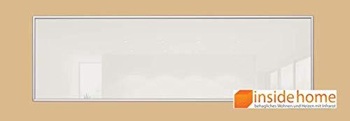 insidehome   Infrarotheizung Glasheizung ELEGANCE  Glas mit 10mm Alurahmen   deutsche Top - Qualität  210 - 1400 Watt   Farbe: weiss (530 Watt - 130x40 cm)
