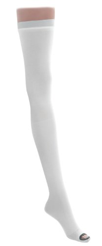 Medline Industries MDS160824 EMS Latex Free Thigh Length Anti-Embolism Stocking, Small Regular, White (Pack of 6) by Medline Industries