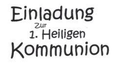 """Stempel """"Einladung zur 1. Heiligen Kommunion D2035"""