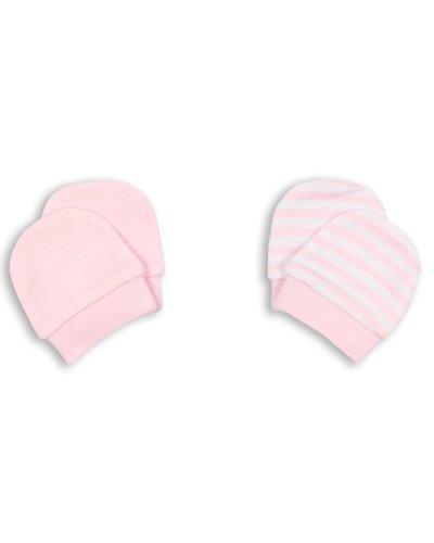 The Essential One - Baby Rosa Kratzhandschuhe für Neugeborene/Kratzfäustlinge/Kratzfäustel, Neugeborenenhandschuhe (2 Paar) ESS81
