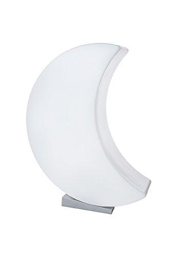 8 seasons design - LED Designmond 3D Mond Shining Moon (60cm groß, RGB Farbwechsel, dimmbar, Fernbedienung, Dekomond beleuchtet, inkl. Sockel, Innen- & Außenleuchte) weiß -