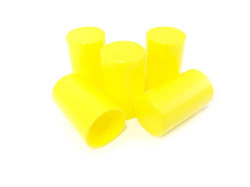 Clark Scientific Reagenzgläser-Verschluss, Polypropylen, autoklavbar, 19 mm, 100 Stück, gelb, 100
