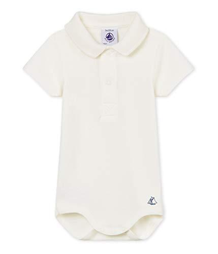 Petit Bateau Baby - Jungen Formender Body MC Col Polo_4853203, Weiß (Marshmallow 03), 86 (Herstellergröße: 18m/81cm) Baby-polo
