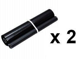 2X TTR Pellicola Nastro FAX Compatibile per BROTHER T7x/8x/9x/T104/T106-TTR 1021-144P 45mt # PC 74RF