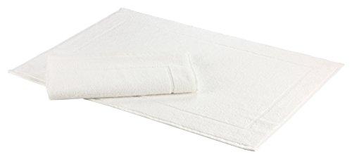 Floringo 2er Set Badvorleger Badematte Sprint 50x70 cm 95° Hotelqualität / weitere Farben erhältlich (weiß) - Stoff Sprint