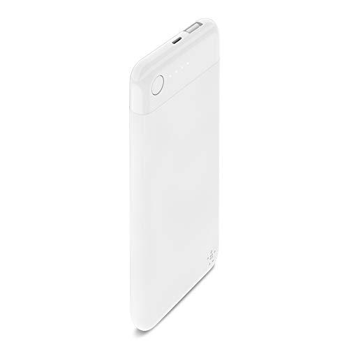 Belkin Boost Charge Powerbank 5K mit Lightning Connector (MFI-zertifiziertes, portables 5000 mAh Lightning Ladegerät für iPhone/iPad), Weiß
