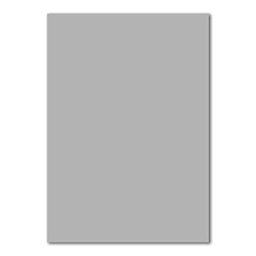 50x DIN A4 Papier Planobogen -Hellgrau - 110 g/m² - 21 x 29,7 cm - Bastelbogen Ton-Papier Fotopapier Bastel-Papier Brief-Papier - FarbenFroh®