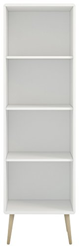 Steens Regal Soft Line, Wandregal, Bücherregal mit 3 höhenverstellbaren Einlegeböden, (B/H/T) 49 x 166 x 33 cm, MDF, Weiß -