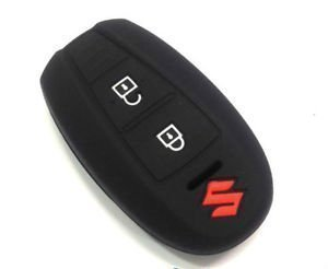 autosun silicone key cover fit for: suzuki vitara brezza / baleno / s cross / ciaz / swift smart key (black) Autosun Silicone Key Cover Fit For: Suzuki Vitara Brezza / Baleno / S Cross / Ciaz / Swift Smart Key (Black) 21EPHEy2fZL