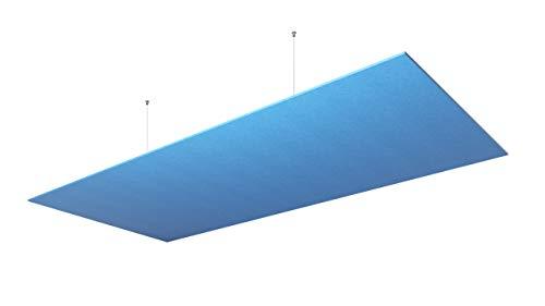 vitAcoustic UNO-Deckensegel, einlagig, Rechteck, Goldener Schnitt, H=9mm UNO 971 x 600 PM825 Sky -