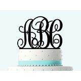Monogramm jeden Buchstaben Hochzeit Tortenaufsatz, Acryl Kuchen Topper Drei Buchstaben. Buchstabe personalisiert mit A B C D E F G H I J K L M N O P Q R S T U V W x Y Z Kuchen Topper.