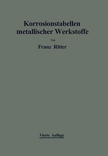 Korrosionstabellen metallischer Werkstoffe: geordnet nach angreifenden Stoffen