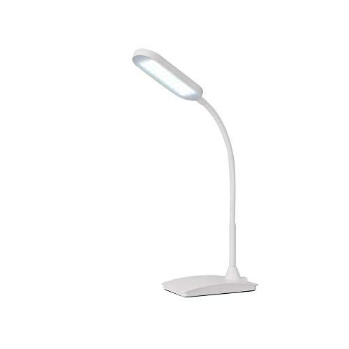 XiaoZou LED Tischlampe Mit 3-Wege-Touch-Schalter Büro Schlafzimmerlampe (Color : White) -