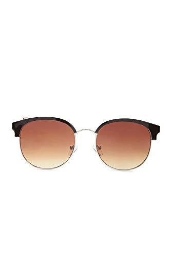HAKIBNK Sonnenbrille Damen Älterer Halbrahmen, Der Retro- Klassischen Spiegel Der Sonnenbrille Fährt