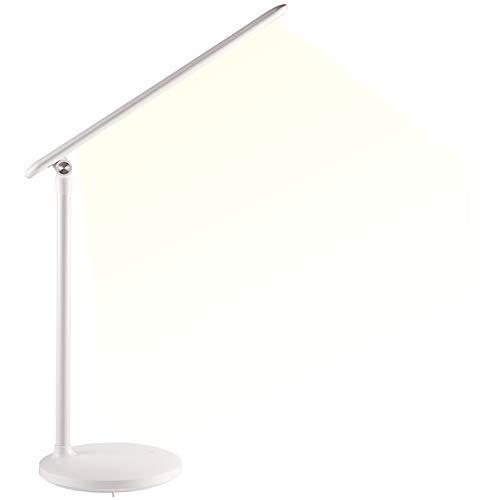 gen USB Lade College schlafsaal Schlafzimmer Bett lesen tischlampe klapp artefakt super helle 4 watt,White ()