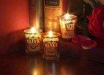1pezzo Metallics persã ¶ nliches luce di candela con scritta angelo custode