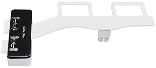 BisBro Deluxe Slim Bidet 2072 | Dusch-WC zur optimalen Intimpflege | Einfach unter dem Klodeckel installieren | funktioniert ohne Strom | Zusatzfunktion für Damen | Bidet ist extra flach