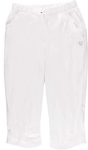 Limited Sports Damen Capri Classic Stretch Hosen, weiß, 48 - Weiße Stretch-capris