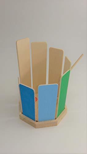 Rührtrommel Klangtrommel Musik Musikinstrument Geschenk Waldorf Montessori Rühr-Xylophon Spiel gut Töne Regenbogenfarben Regenbogen