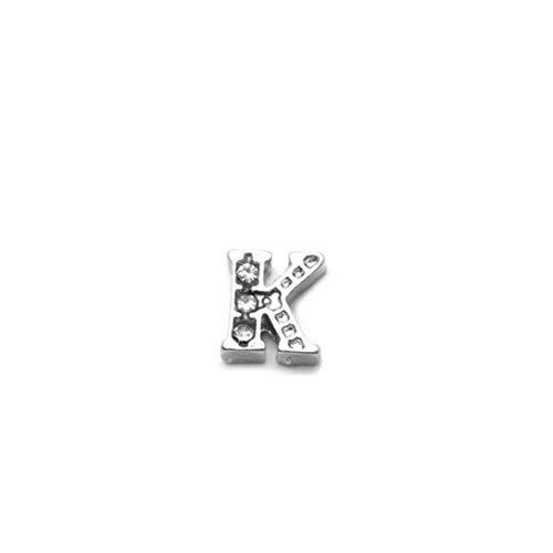 AKKi jewelry Buchstabe Element für Medaillon Kette,klein Petite Charms Elemente Pandora Style kompatibel Locket Memories Schmuck Set K