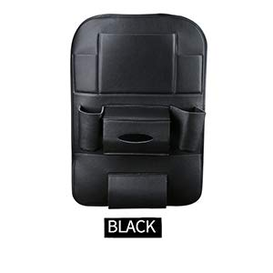 Autositz zurück hängen Veranstalter Tasche Universal Auto Multi-Pocket PU Leder Pad Cups Lagerung Inhaber Tasche Faltbare Regal Black -