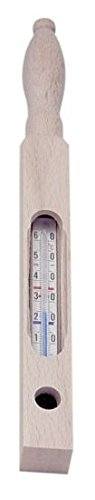 Badethermometer, Holz, Vierkant