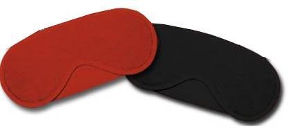 Orion 773514 Augenmasken-Set aus einer roten und einer schwarzen Augenmaske aus Stoff