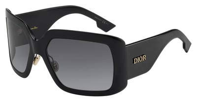 Sonnenbrillen Dior DIOR SO LIGHT 2 BLACK/GREY SHADED Damenbrillen