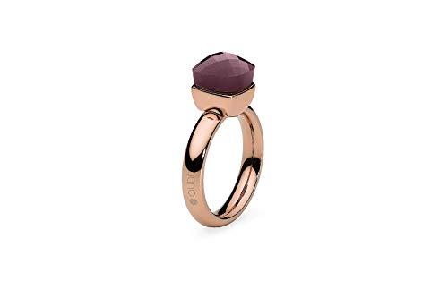 """Qudo""""Firenze"""" rose Ring mit violett hell (cyclamen opal) Stein (54 (17.2))"""