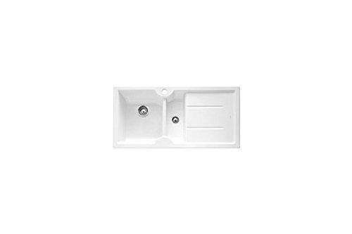 Preisvergleich Produktbild Blanco – Spülbecken mit einer Schale mit Ablagekorb und Tropfenfänger a rechts 1516027 Finish Weiß crsitallo von 100 x 50 cm