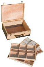 loxley-360-x-280-x-135-mm-hardwood-langsett-artist-wooden-storage-4-tray-pastel-box-natural