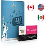 T-Mobile Prepaid SIM-Karte für die USA- Tethering (nur in den USA)! Null Roaminggebühren! 50GB, 5GB in Kanada/Mexiko, ⚡ UNBEGRENZTE⚡ Anrufe & Texte gültig für 15 Tage