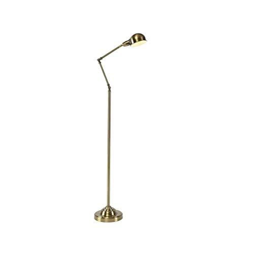 YUX Latón Lámpara de pie Ajustable de Metal Simple lámpara de pie ...