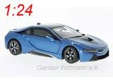 RASTAR RAT56500BL BMW i8 2015 METALLIC BLUE 1:24 MODELLINO DIE CAST MODEL