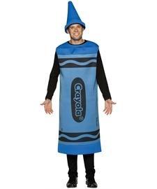 Crayola zeichnet - Erwachsene männlich Kostüm - Blau (Erwachsene Blau Crayon Kostüme)