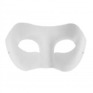 Rayher 7156100 Pappmaske: Augenmaske, 20x10 cm, mit Gummiband
