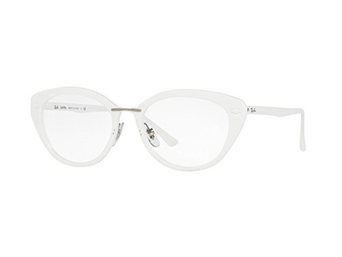 Ray-Ban - RX 7088, Schmetterling, Propionat, Damenbrillen, SHINY WHITE(5618), 52/18/140
