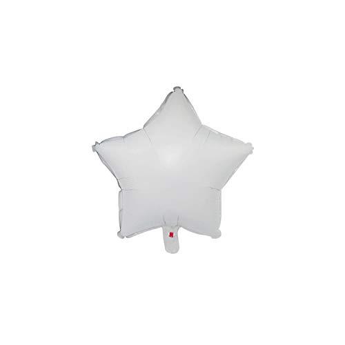 1pc 18inch-Stern-Herz aufblasbare Helium-Ballon-Geburtstags-Party-Dekorationen Kinder-Folien-Ballone Hochzeit Weihnachten Supplies Geschenke, Weiß, 18inch-5
