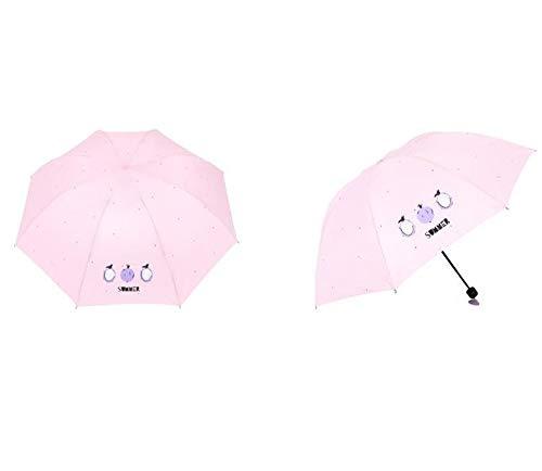 GUANHONG Obst PU Bank Regenschirm Boutique manuelle Taschenschirm Student Jugend Sonnencreme Regen Dual-Use-Regenschirm (Obst Jugend)