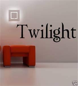 Online Design Twilight Aufkleber Wanddekoration Vinyl Edward Cullen Liebe - Blau - Edward Cullen Design