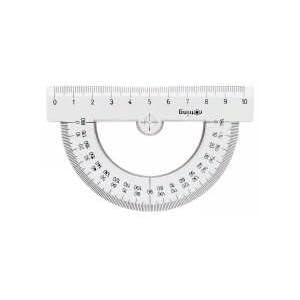 rOtring S0221230 Centro-Winkelmesser, halbrund, 10cm
