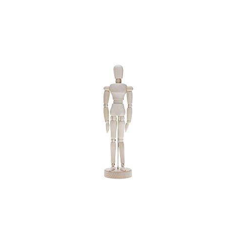 vitihipsy Holzfigur Modell Menschliche Kunst Mannequin Puppen Für Künstler Skizze Holzkohle Home-Office Schreibtisch Dekoration Kinder Spielzeug Geschenk -