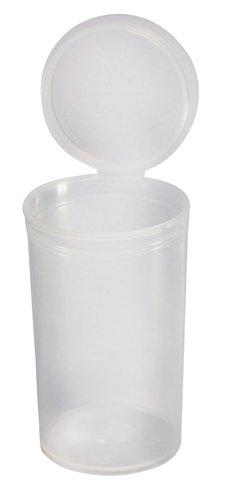 SQUEEZE von Pop Top, Dose mit Deckel, 50 x 19 Dram, 80ml, RX, schwarz, kindersicherer, FDA-zugelassener Kunststoff in medizinischer Qualität (PP-TR-CL-50), 50Stück